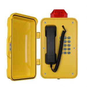 Teléfono de emergencia amarillo muy resistante Vozell