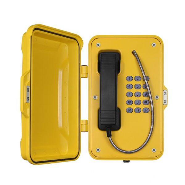 Teléfono profesional amarillo a prueba de la intemperie Vozell