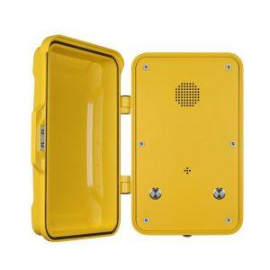 teléfono industrial voip amarillo Vozell
