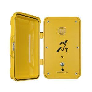 Teléfono voip profesional amarilllo Vozell