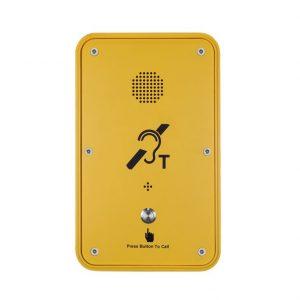 Teléfono voip industrial amarilllo Vozell