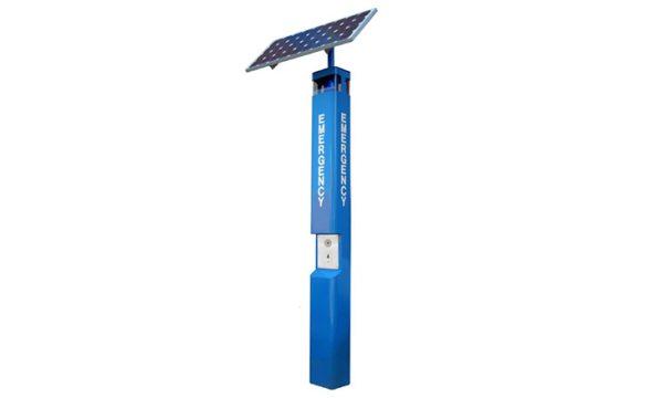 Torre SOS azur de emergencia con panel solar