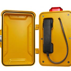 Teléfono industrial de emergencia estanco y amarillo Vozell